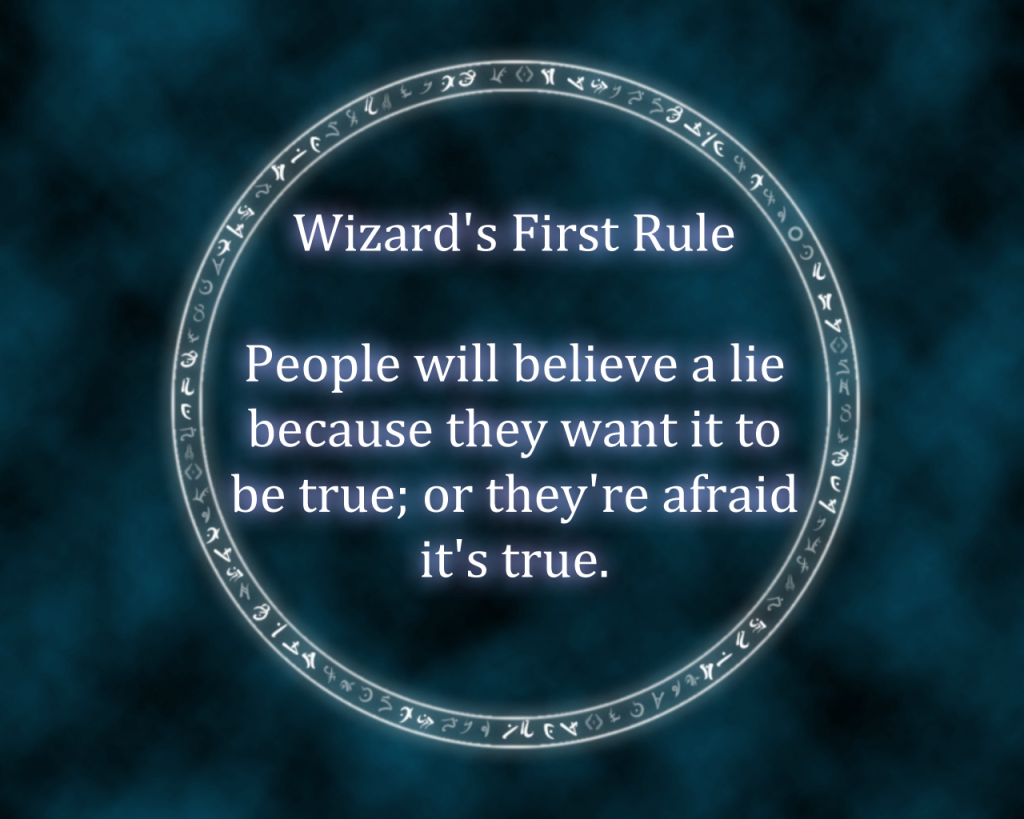 Wizards Rules by Andrew Buckley | Sword of truth, Wizard's rule, Truth