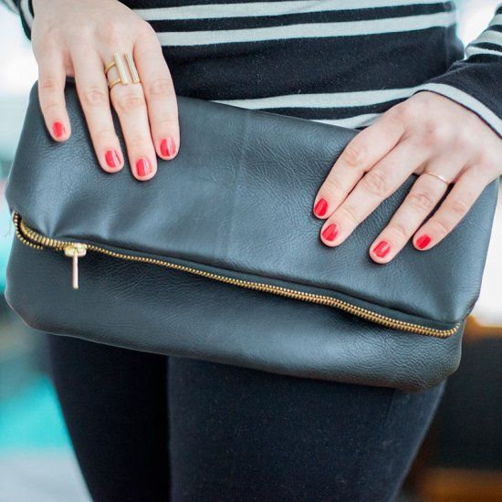 Sew your own chic leather clutch with these easy instructions.