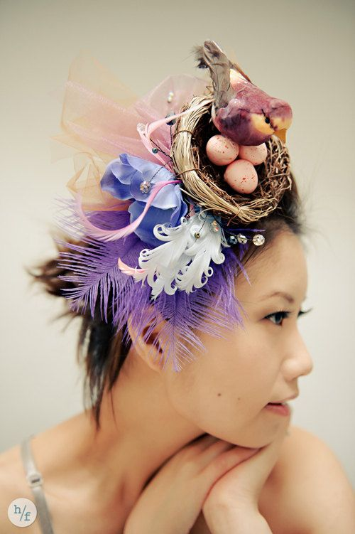 Christy Whimsical Birds Nest Fascinator  7abc165c61f