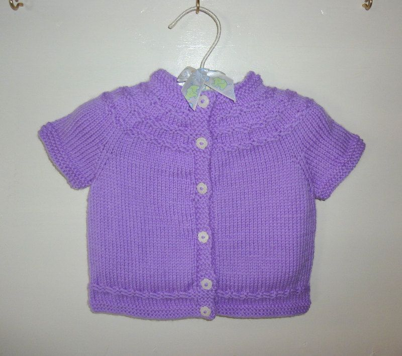 Baby Cardigan. Knitted Cardigan. 3-6 month old girl. Girl's ...