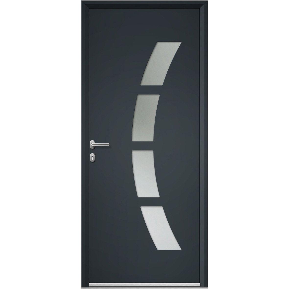 Porte Entree Maison Aluminium Toledo Artens Poussant Gauche H215 X L90cm Materiaux Menuiserie Por Porte D Entree Porte Entree Aluminium Porte Entree Maison