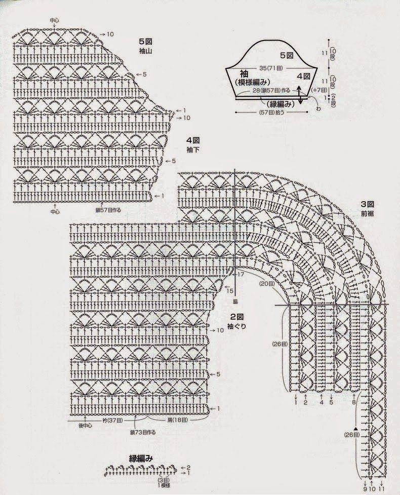 Chaqueta ovalada con mangas patron - Patrones Crochet | crochet ...