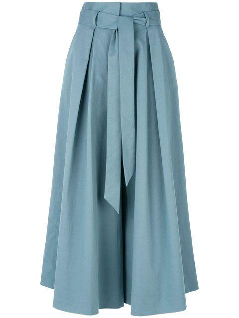 3586c3b3f Temperley London Blueberry Tailoring Ruffle Culottes - Farfetch