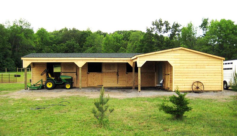 L Shaped Horse Barn Horse Barns Wood Tex Products