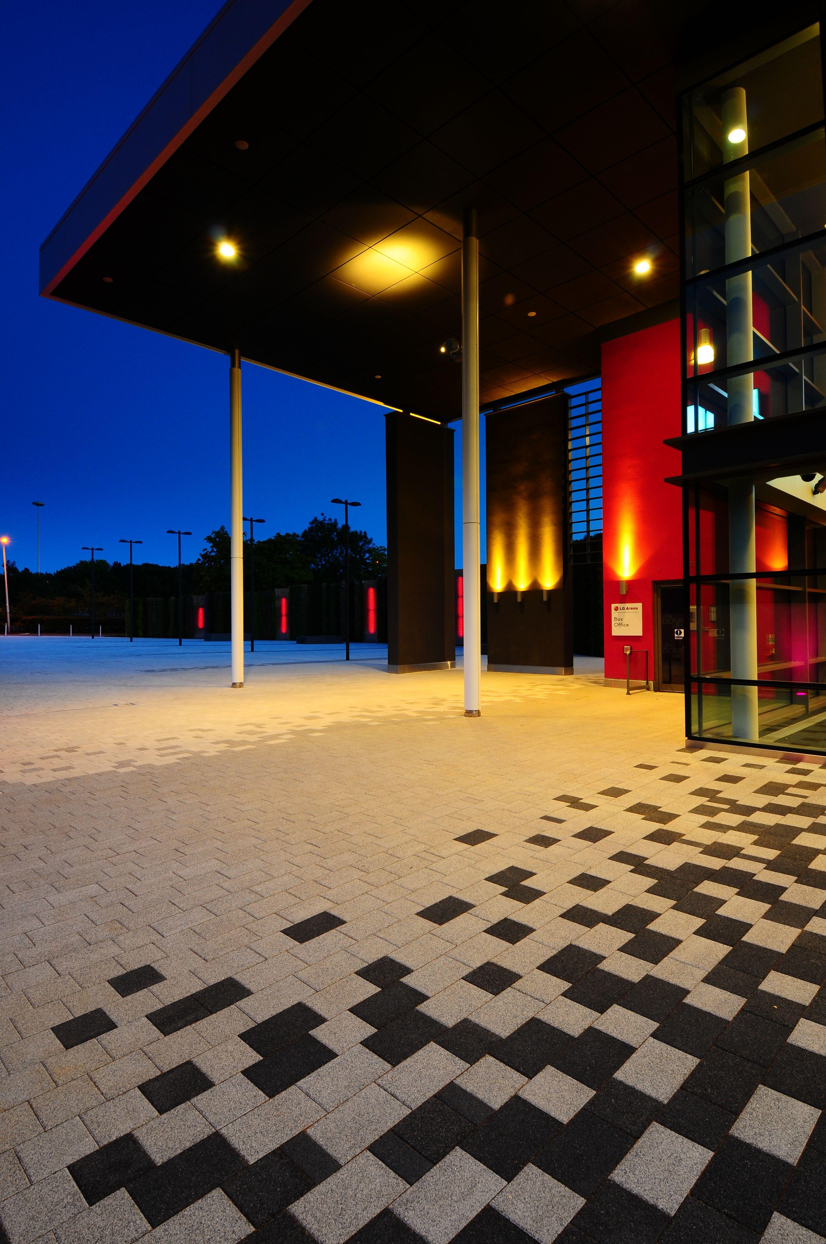lg arena birmingham la linia landscape designs pinterest pflaster. Black Bedroom Furniture Sets. Home Design Ideas