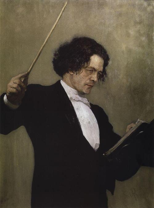 painting by llya Repin, 1897 列賓「俄國著名鋼琴、作曲及音樂指揮家安東,魯賓斯坦Anton Rubinstein(1829-1894)」