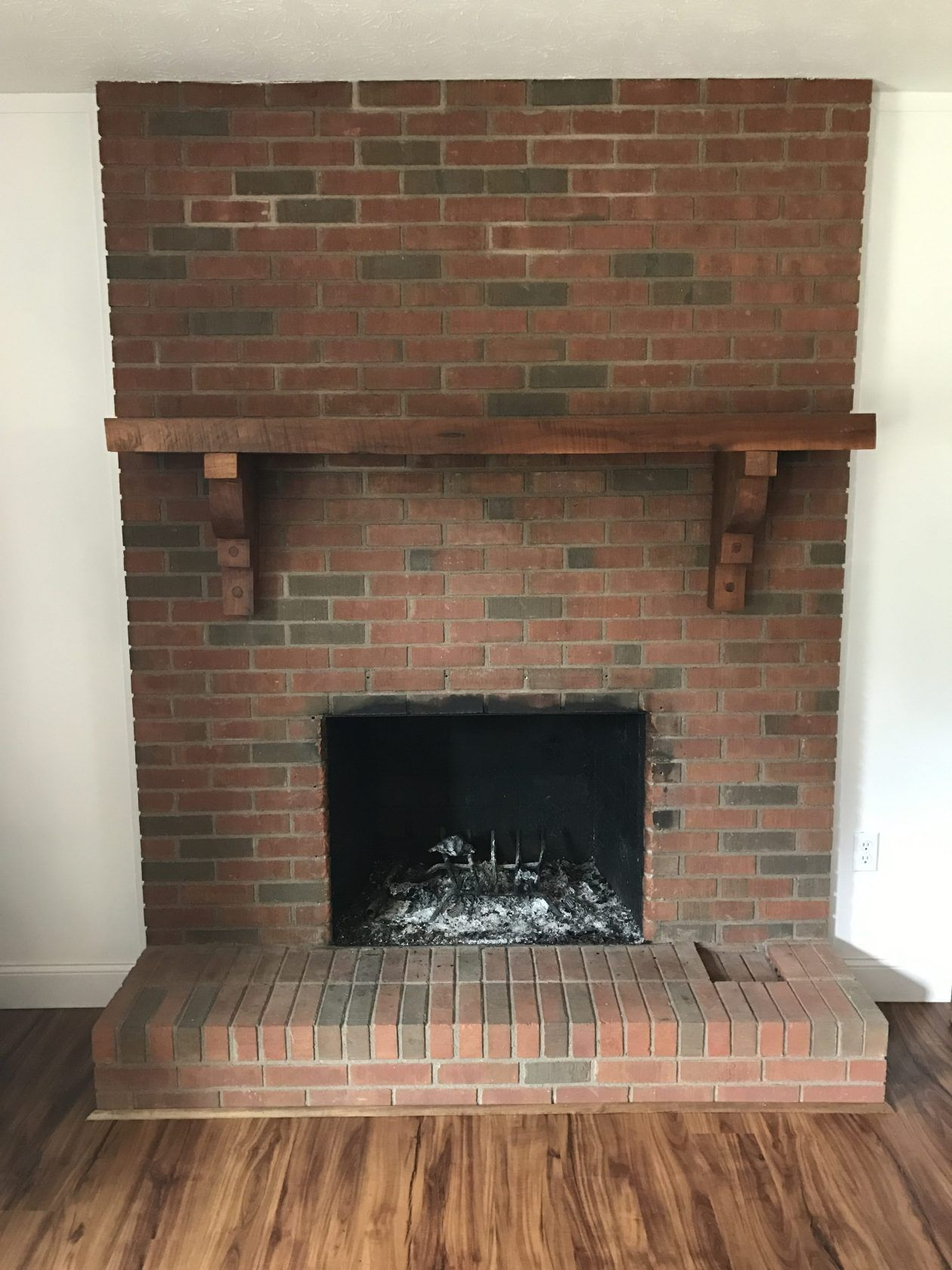 Painting Our Fireplace Grey (With images)   Brick ...
