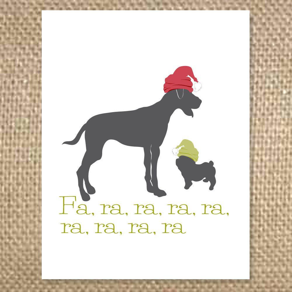 Fa Ra Ra Dog Christmas Card Christmas Pinterest Whoville