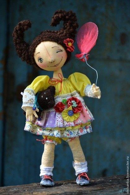 """кукла на каркасе """"Девочка Лето"""" - жёлтый,интерьерная кукла,кукла на каркасе"""