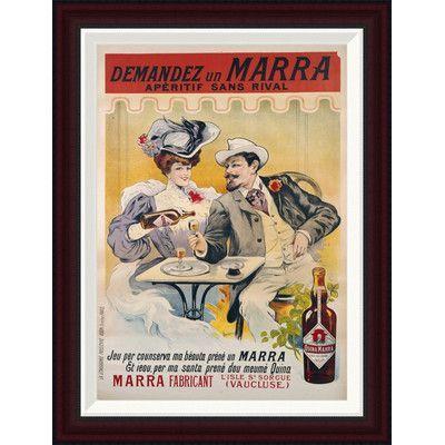 Global Gallery Demandez Un Marra by Francisco Tamagno Framed Vintage Advertisement Size: