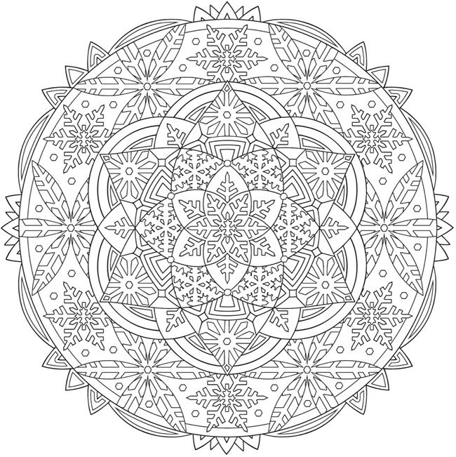 Welcome To Dover Publications From Creative Haven Snowflake Mandalas Coloring Book