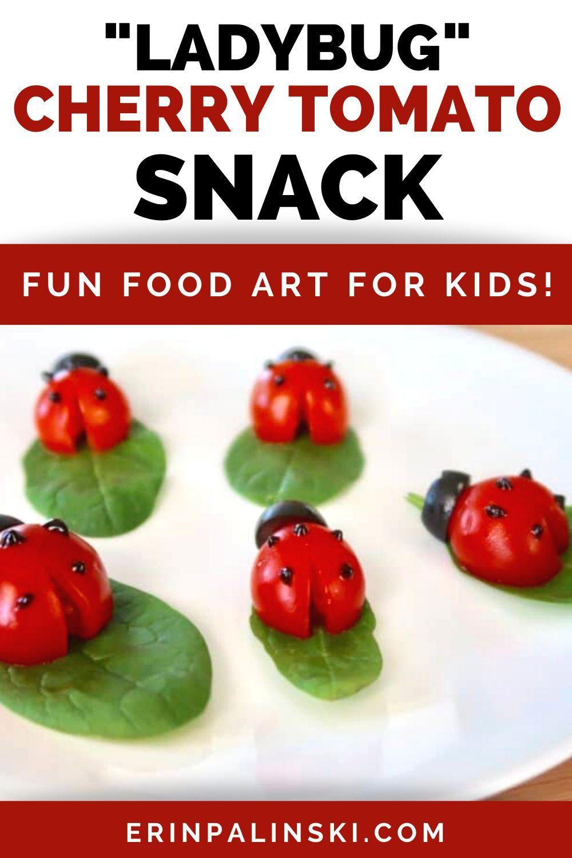 Ladybug Cherry Tomato Snack For Kids In 2020 Snacks Healthy Snacks For Kids Healthy Snacks Recipes