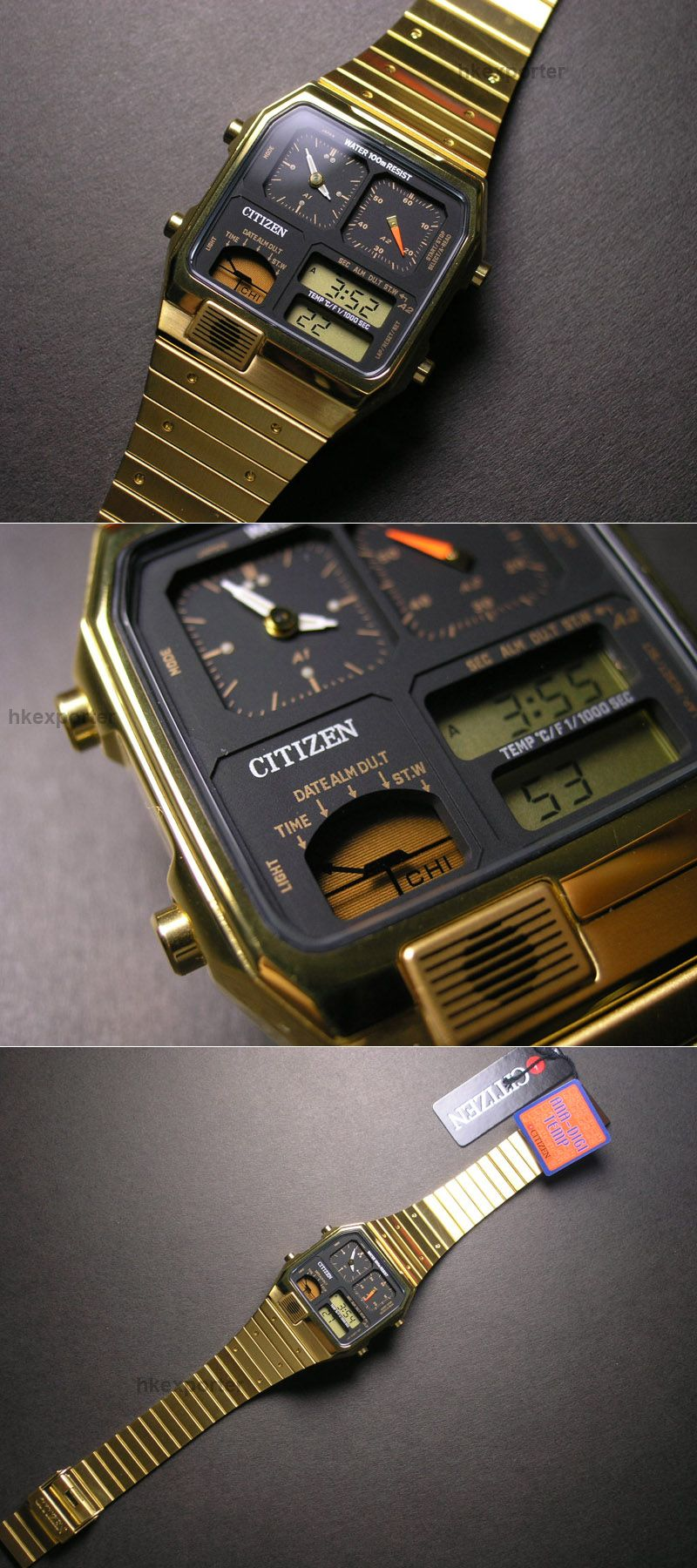 CITIZEN ANA-DIGI TEMP VINTAGE WATCH JG2032-52E [JG2032-52E] : GOLDEN8TS #vintagewatches