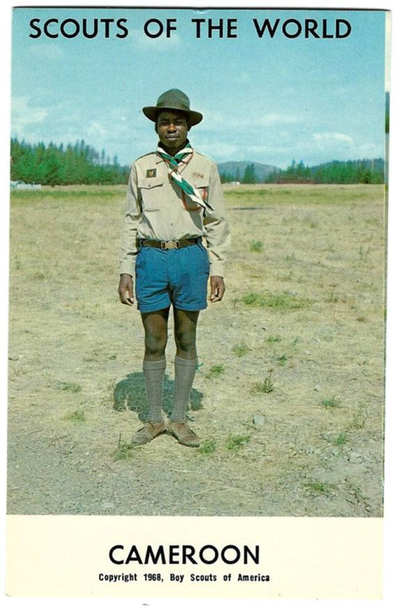 World Bedroom Furniture: 1968 Boy Scouts Of The World Cameroon Postcard, African