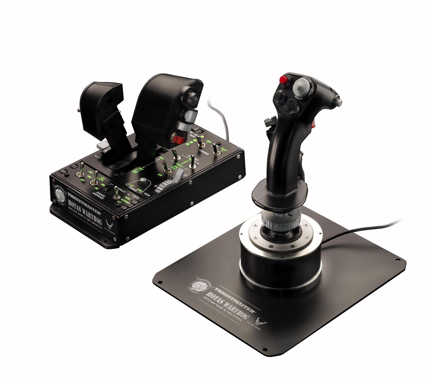 The Thrustmaster HOTAS Warthog Joystick and throttle fully