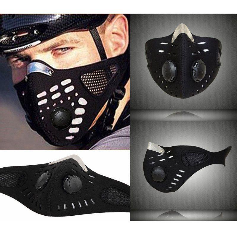 새로운 블랙 반 얼굴 마스크 오토바이 스키 공해 방지 야외 스포츠 입-머플 방진 자전거 네오프렌 마스크 필터