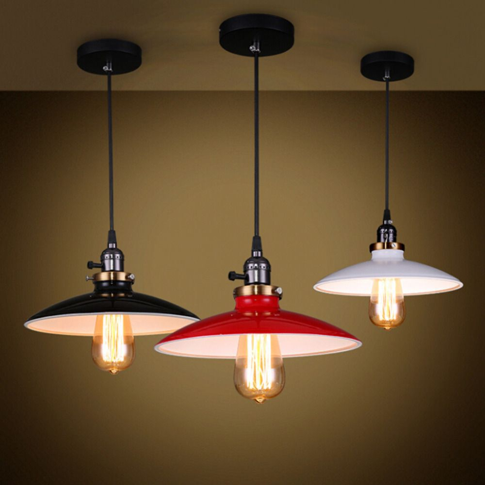 E27 stoving bulb vintage retro american style pendant lamp paint e27 stoving bulb vintage retro american style pendant lamp paint black metal light shade ceiling chandelier light hot selling room makeover aliexpress mozeypictures Choice Image