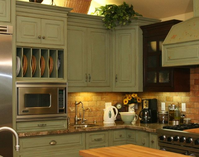 Country Green Kitchen   Rustic   Kitchen   Orange County   By Pacific Coast  Custom Design