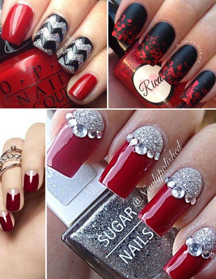 35 Unhas decoradas vermelhas para se inspirar Unhas Unhas decoradas, Unhas vermelhas, Unhas  -> Decoracao Unhas Vermelhas