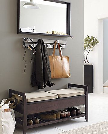 Make An Entry Home Storage Bench With Cushion Home Deco