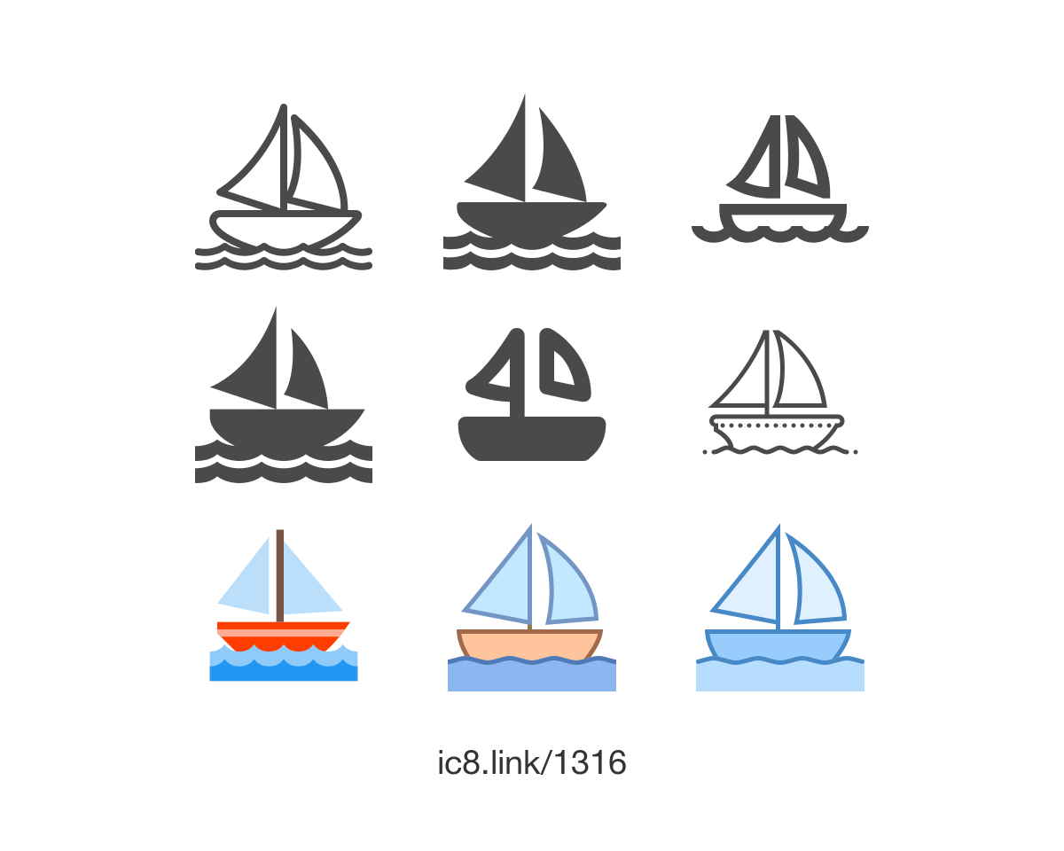 Free Flat Sail Boat Icon Of Outlined Available For Download In Png Svg And As A Font Icons Uidesign Design Graphicdesign Boat Icon Icon Boat