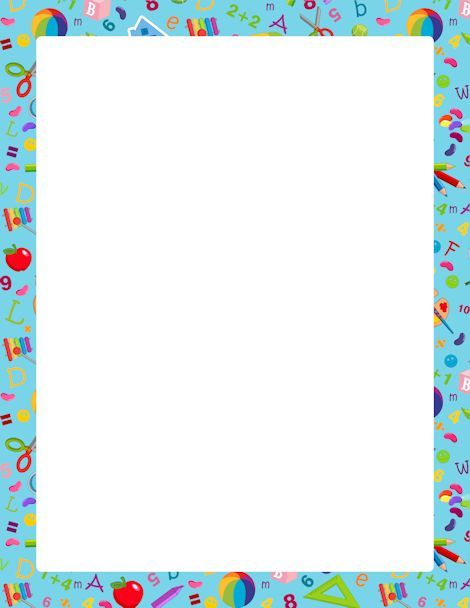 Kindergarten Borders And Frames Printable kindergarten border - free download certificate borders