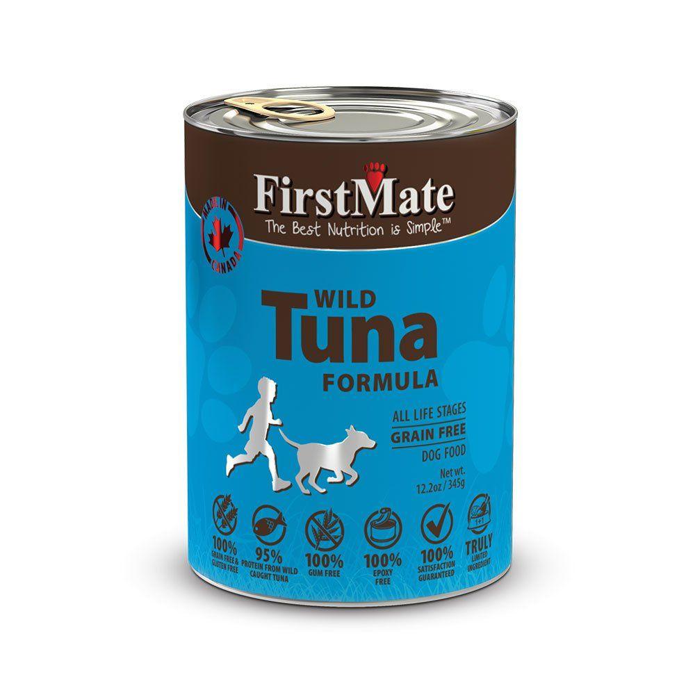Firstmate Lid Grain Free Canned Dog Food Wild Tuna Formula 12 2 Oz