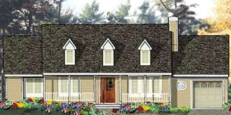 Plan No.387059 House Plans by WestHomePlanners.com - 3 bdrm 2 bath 1232 sq ft