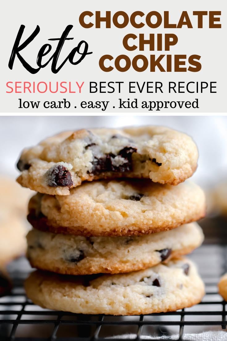Keto Chocolate Chip Cookies - The BEST RECIPE EVER!!!