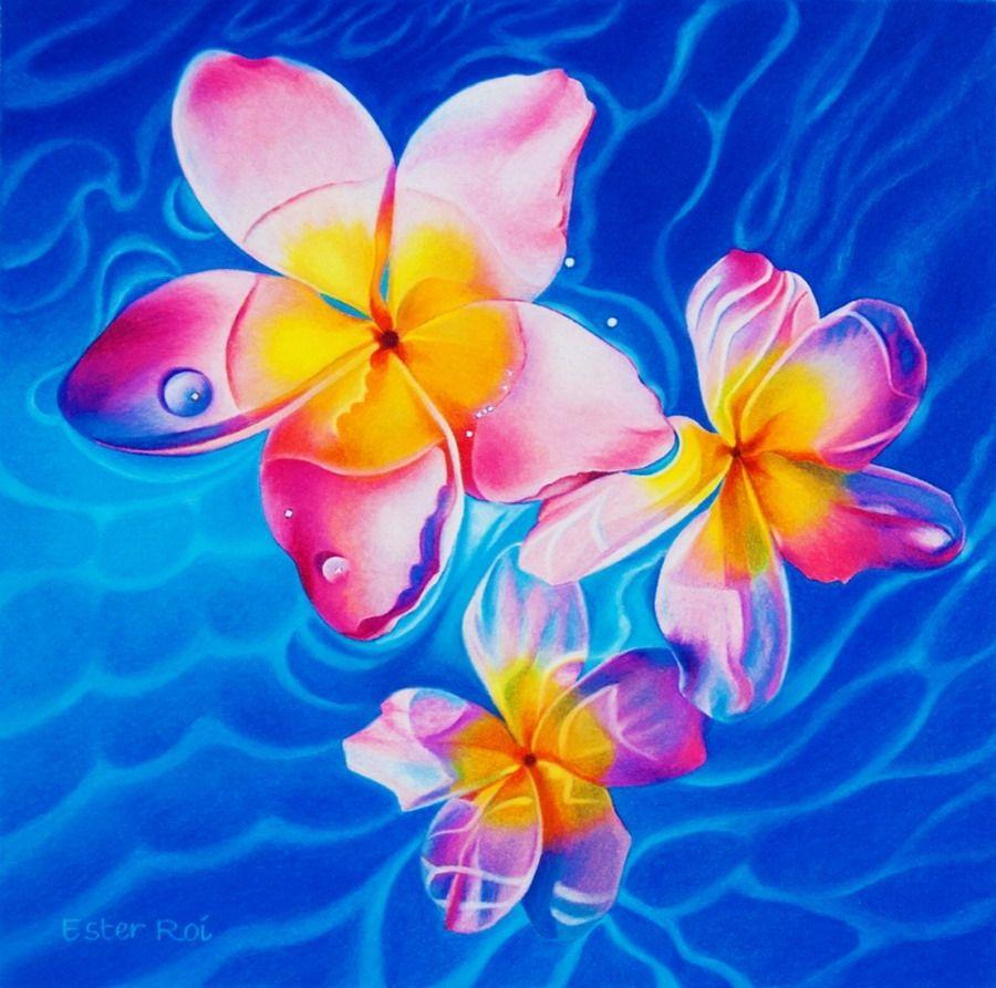 cuadros flores con fondo de colores  Buscar con Google  Ester