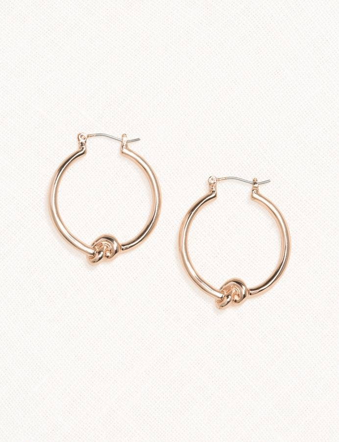 Love Knot Hoop Earrings Dressbarn