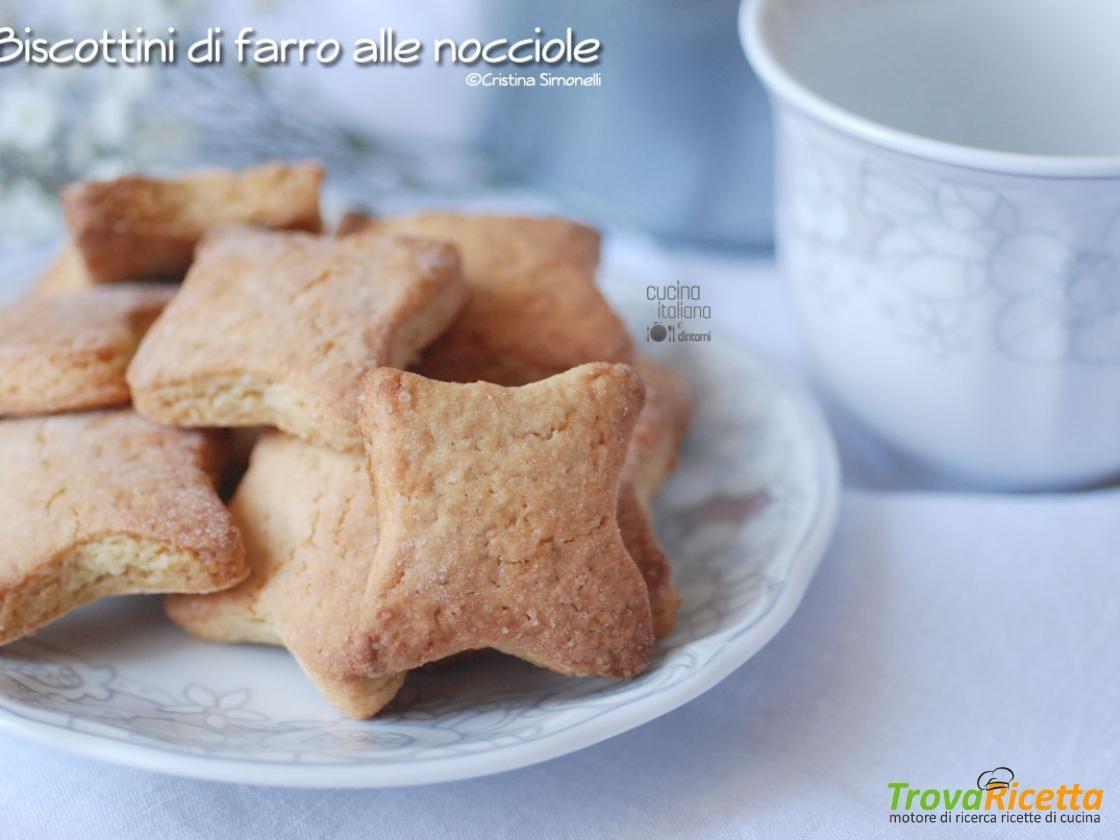 Biscottini di farro alle nocciole  #ricette #food #recipes