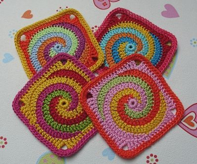 Granny Twister Spiral - Tutorial in English (scroll down) | Crochet ...