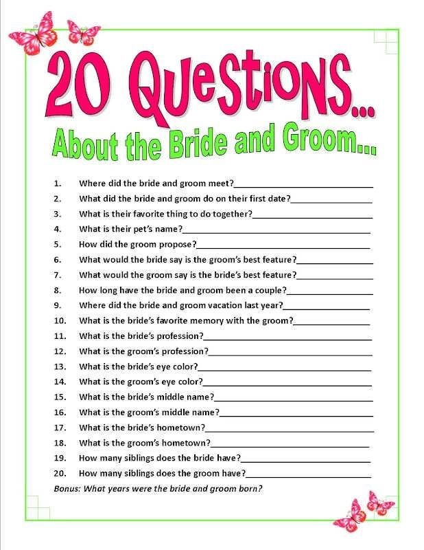 bridal shower games bubble gum questions