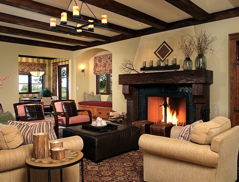 30 Rustic Living Room Ideas For A Cozy Organic Home Spanish Living Room Design Living Room Decor Rustic Spanish Living Room