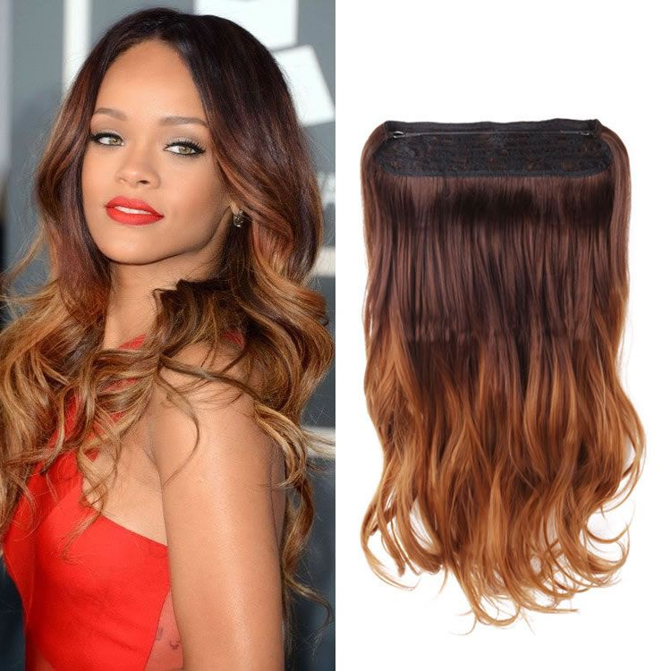 20 Inch Flip In Secret Miracle Wire Hair Extensions Brown To Caramel
