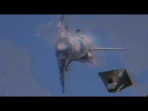 Real NASA Footage  Alien UFO Taking Out Space X Falcon 9