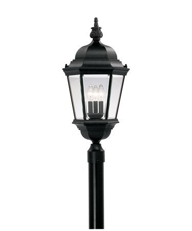 Builder Cast Aluminum 28 Inch Tall 3 Light Outdoor Post Lamp By