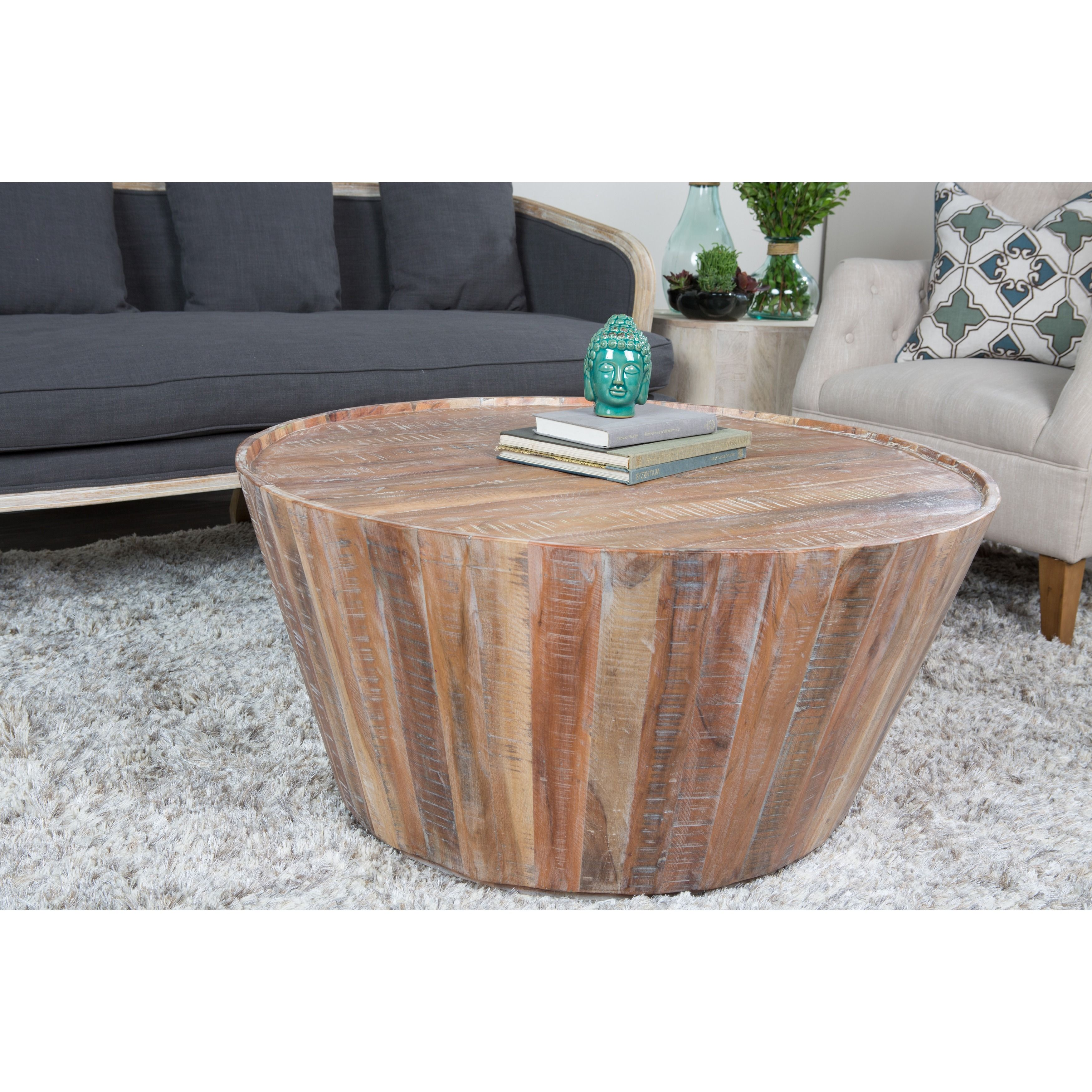 Overstock Com Online Shopping Bedding Furniture Electronics Jewelry Clothing More Coffee Table Coffee Table Design Barrel Coffee Table [ 3500 x 3500 Pixel ]