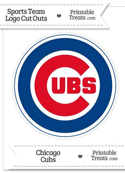 picture about Printable Cubs Logo named Enormous Chicago Cubs Symbol Minimize Out versus