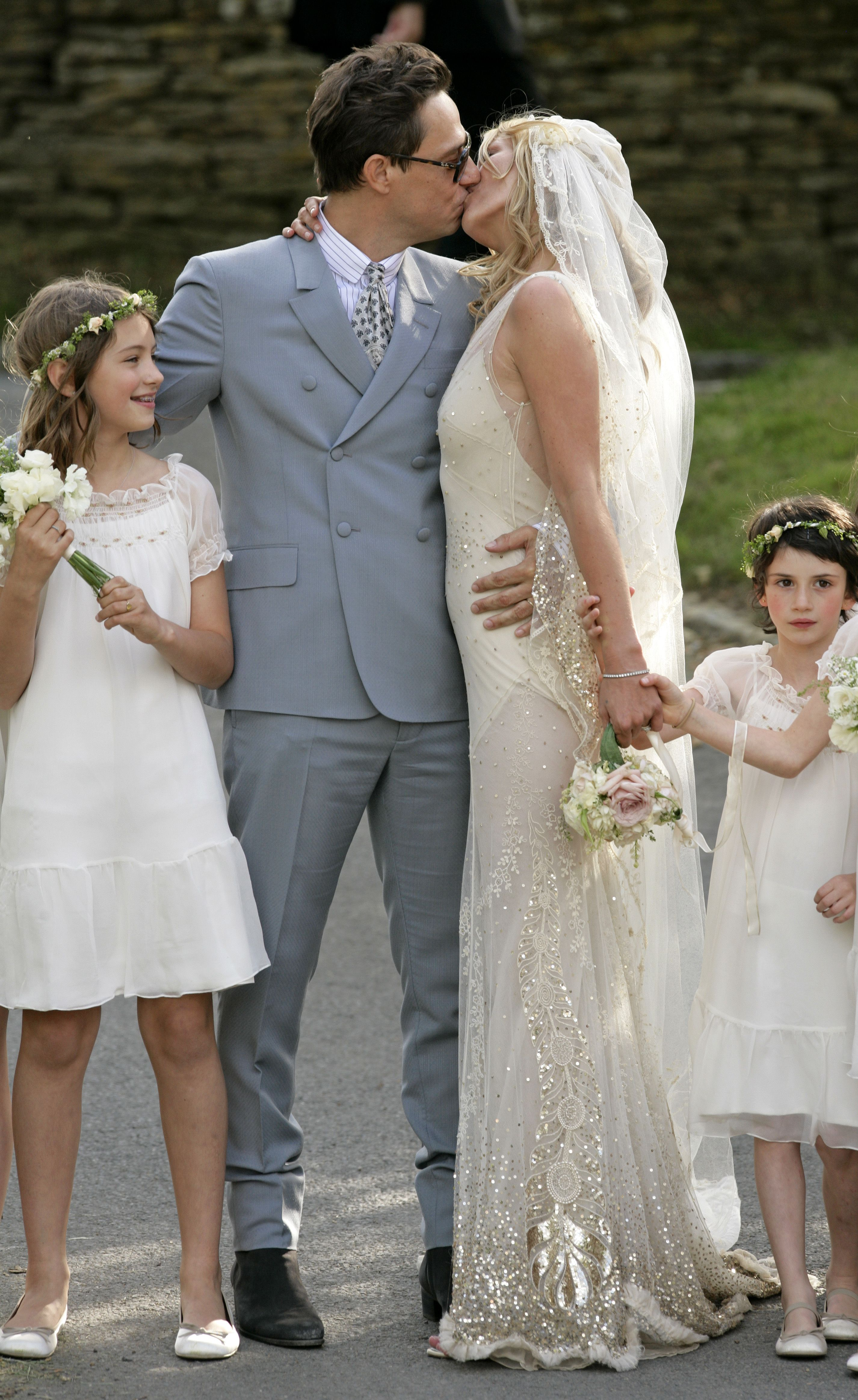 The marriage ceremony of Kate Moss was held in the small old church of St. Margaret 07/02/2011 74