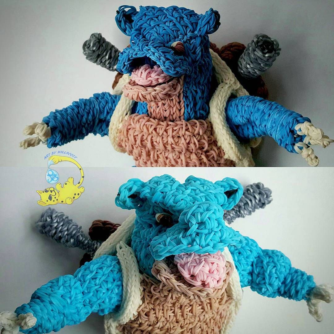 Rainbow Loom Blastoise by Art by Willscott #RLPokemon | Rainbow Loom ...