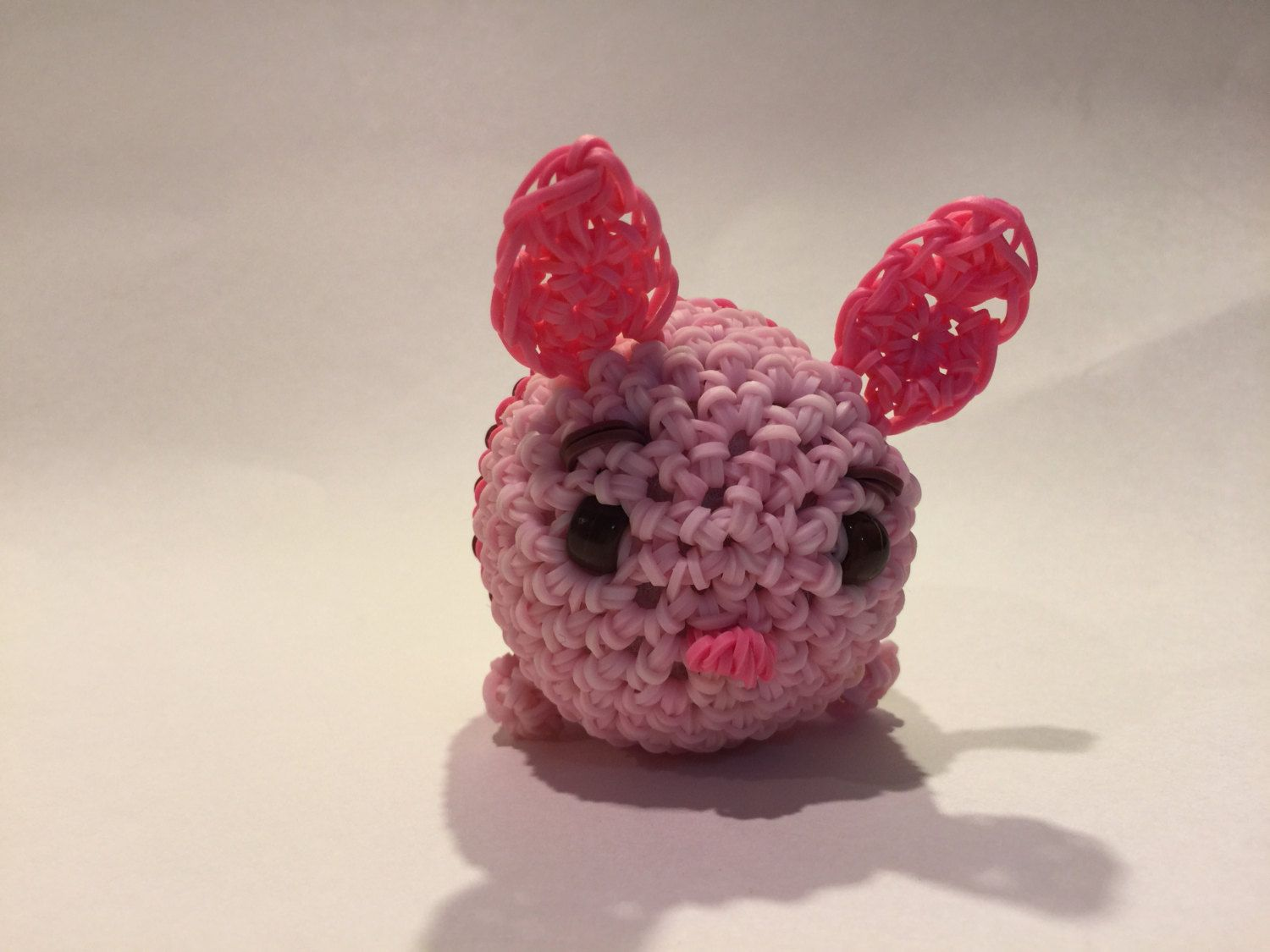 Amigurumi Loom Patterns : Disneys piglet tsum tsum rubber band figure amigurumi by