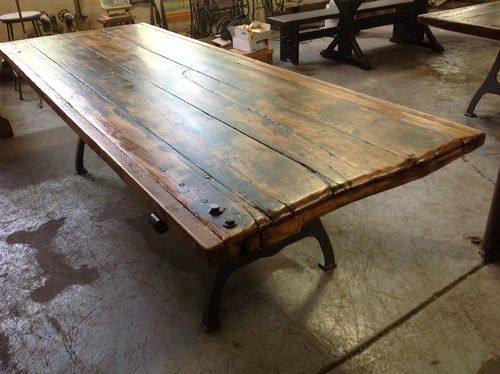 Salvaged Door Tables Traditional Dining