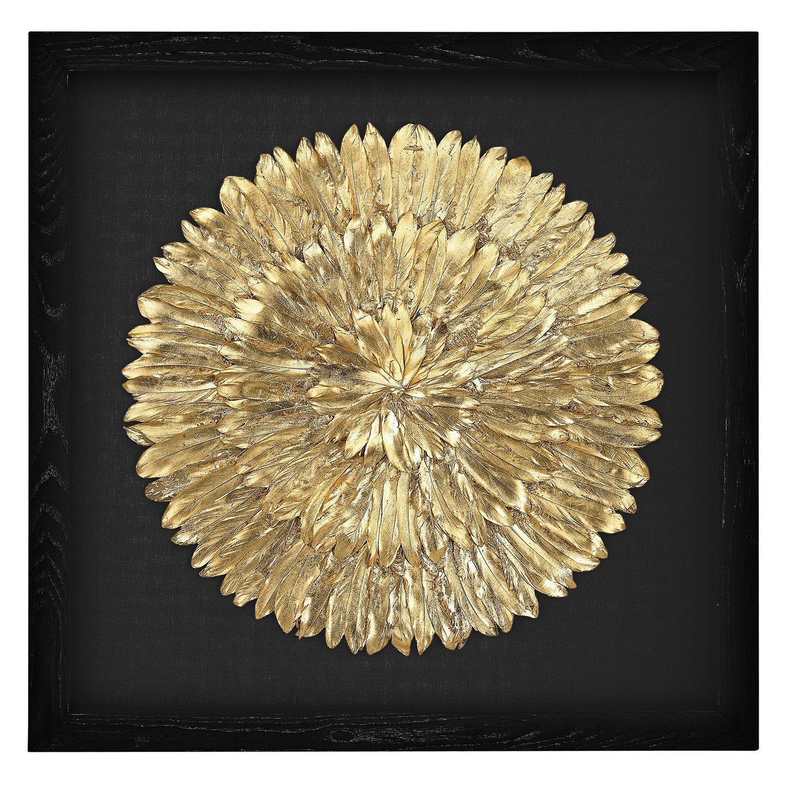 Dimond Home Gold Feather Spiral Wall Art - 3168-019 | Gold feathers ...
