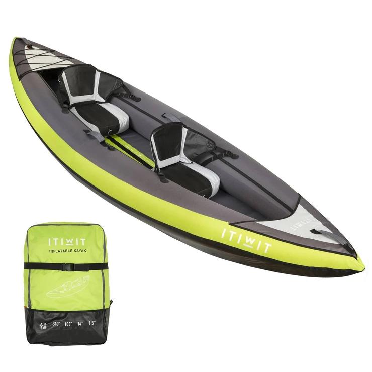 Kayak Inflatable Cruising 1 2 Places En 2020 Kayak Inflable Pesca En Kayak Equipo Para Kayak