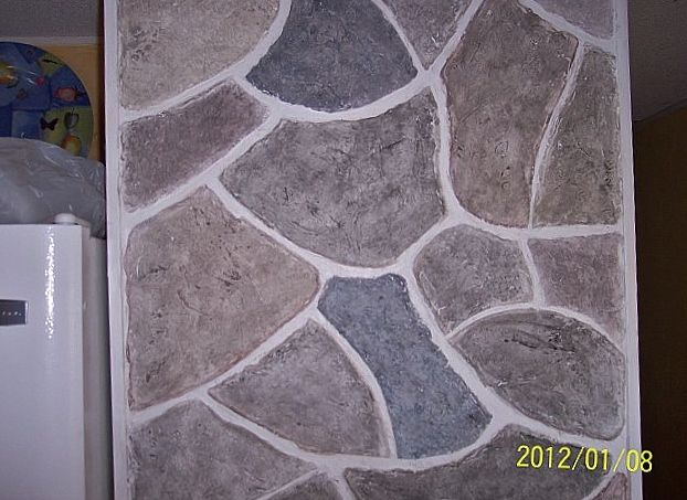 Faux Stone Wall From Joint Compound Interior Design