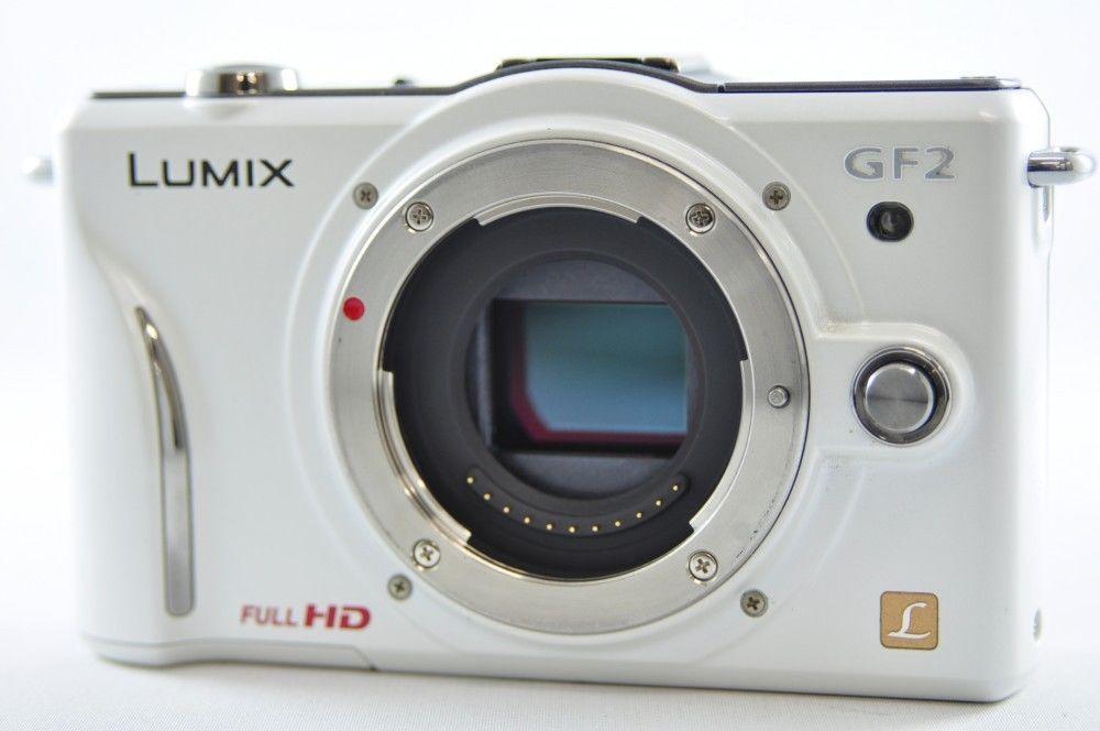Exc Panasonic Lumix Dmc Gf2 12 1mp White Body Mirrorless Digital Camera Panasonic Panasonic Lumix Camera System Camera
