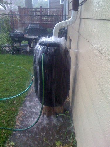 Rainbarrel Overflow Make Sure Overflow Is Away From