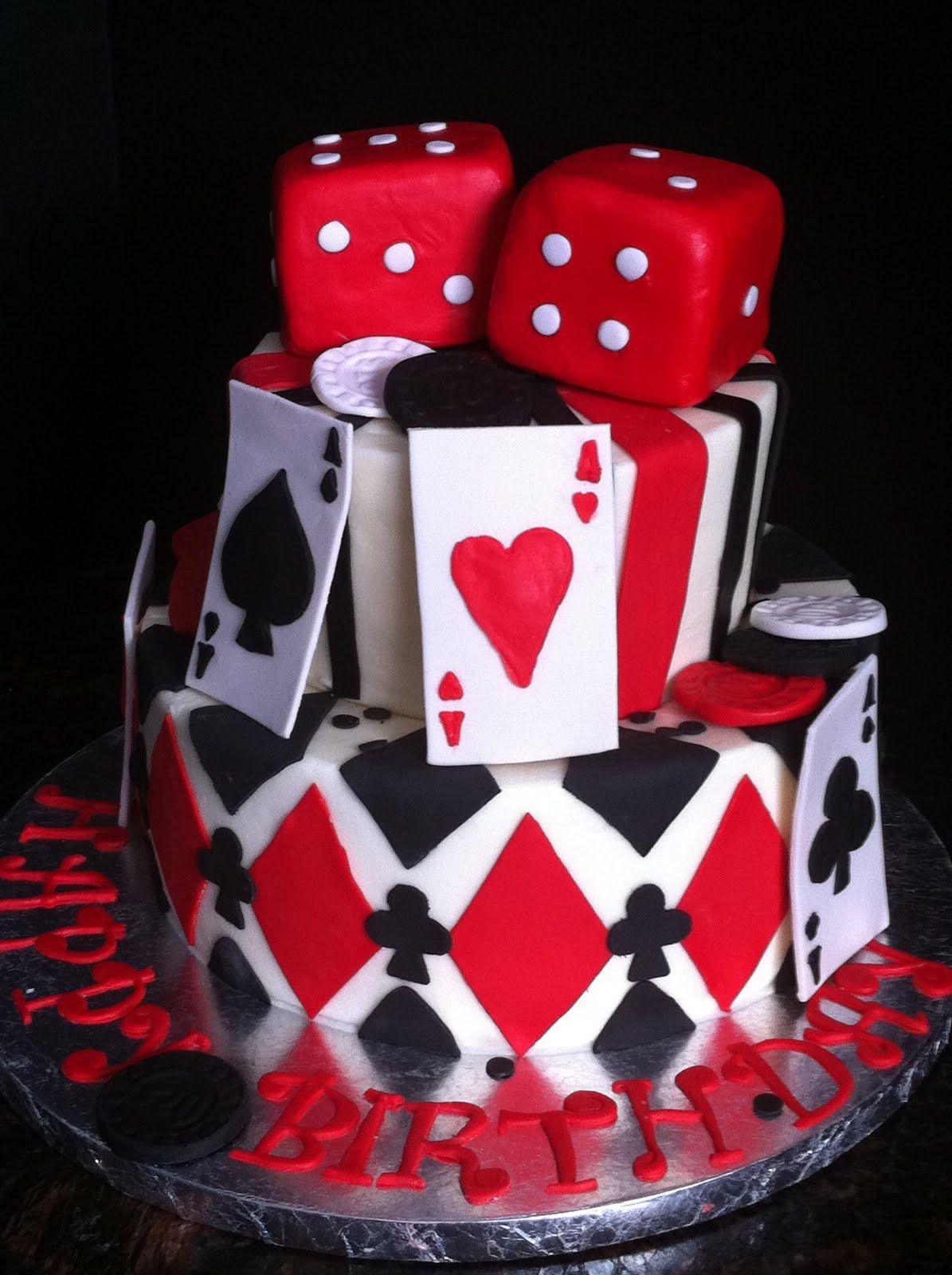 Cards Dice Wedding Cake Casino Cakes Themed Birthday